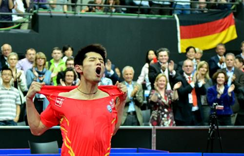 Weltmeister Zhang Jike aus China(Foto: DTTB)