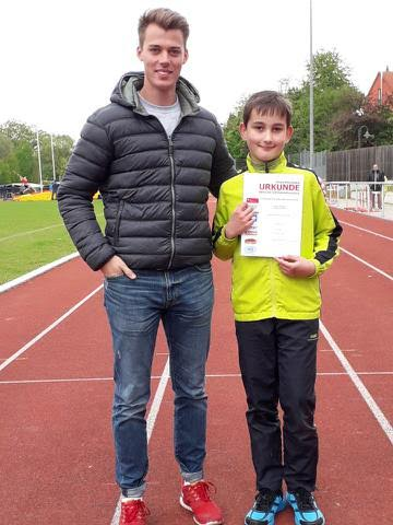 Marko Bradac mit Trainer Fabian Koch